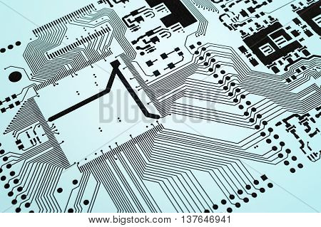 Electronic Circuit Board Printed Design Project