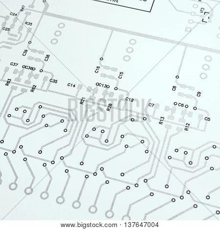 Electronic Circuit Board Schematic