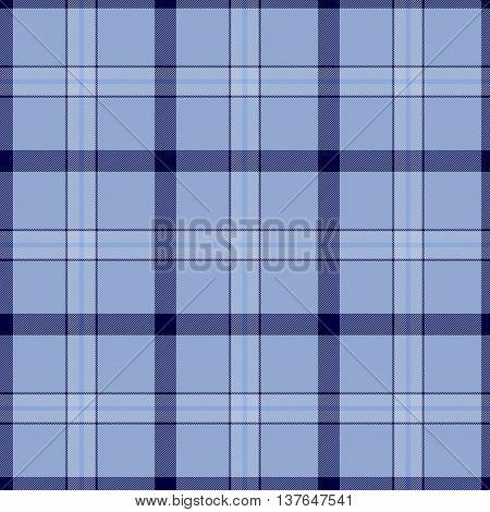 Traditional Scottish blue tartan pattern made seamless for kilt or bandana