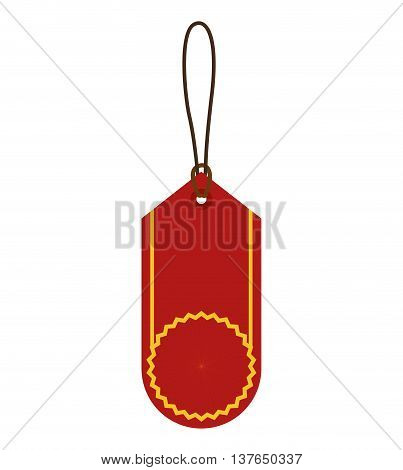Label concept represented by sale tag icon. Isolated and flat illustration