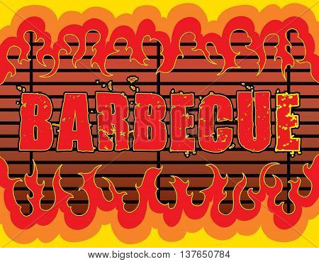 Barbecue With Flames is an illustration of a barbeque or barbecue design with fire or flames that can be used as a template for things such as invites or flyers.
