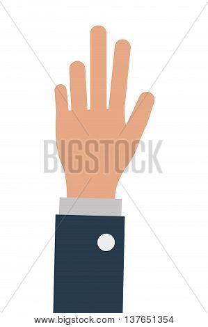 business person one hand up, isoalted vector illustration design isolated vector illustration