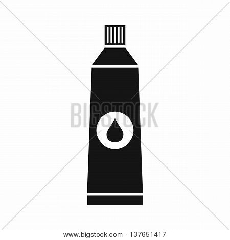 Tube with paint icon in simple style isolated vector illustration