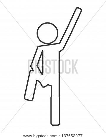 person icon excercisse fitness isolated vector illustration