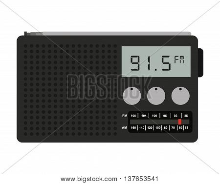 radio portable isolated icon design, vector illustration  graphic