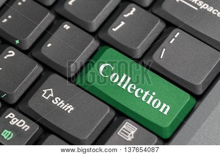 Green collection key on keyboard