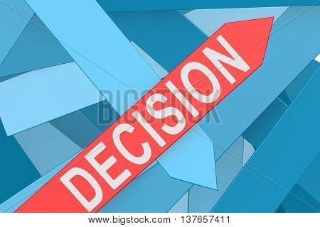 Decision Arrow Pointing Upward