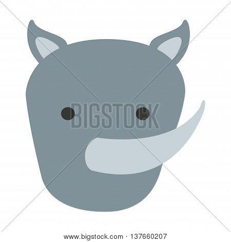 cute rhino isolated icon design, vector illustration  graphic