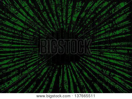 Matrix background with the green zoom fast motion speed lines technology background