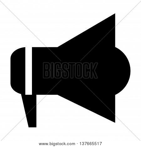 simple flat design megaphone pictogram icon vector illustration