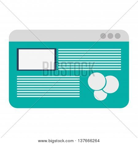 simple flat design webpage with diagram icon vector illustration