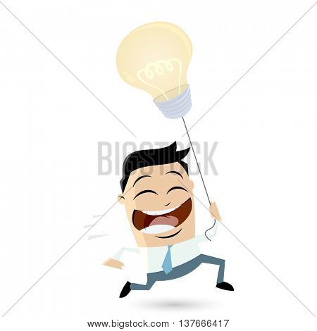 smart businessman with idea balloon