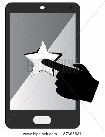 Touch Screen Smart Phone Icon smart phone computer icon symbol human hand