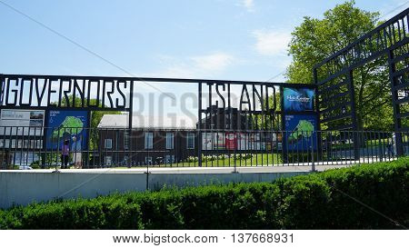 NEW YORK, NY - JUN 19: Governors Island in New York, as seen on Jun 19, 2016. It is a 172-acre island and is part of the borough of Manhattan in New York City.