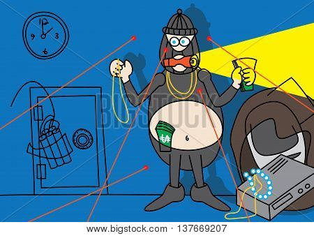home property alarm system concept vector illustration
