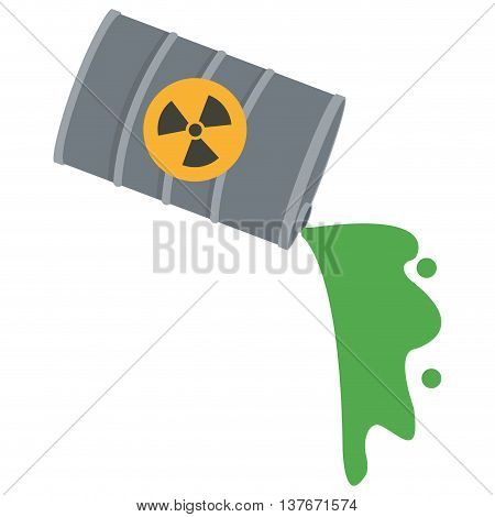 flat design toxic waste contamination icon vector illustration