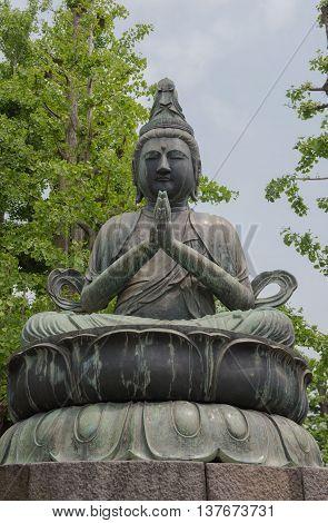 Seated Buddha, Sensoji Temple, Tokyo, Japan. for background