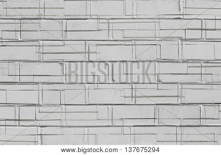 Abstract Blue Background With Old Brick Wall