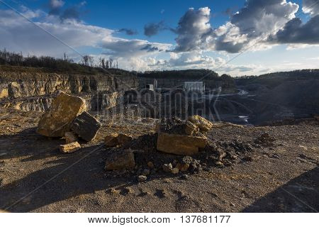 Crushed Stone Factory In A Quarry Career