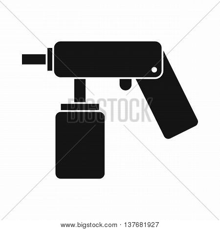 Spray aerosol can bottle with a nozzle icon in simple style isolated vector illustration