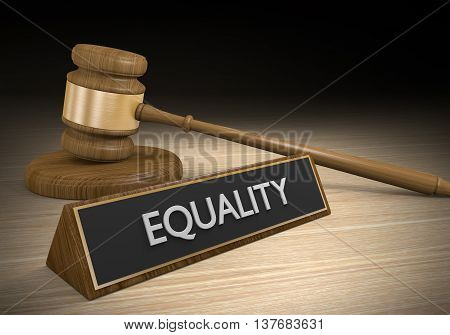 Laws for improving social and racial equality, 3D rendering