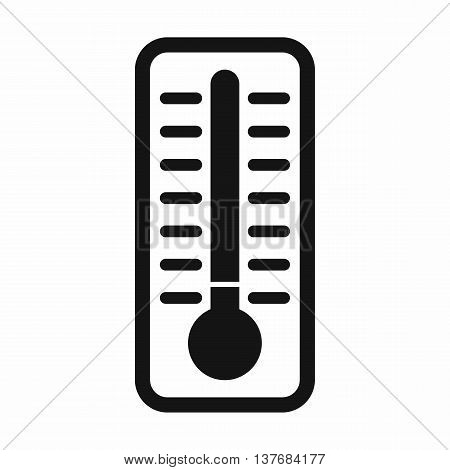 Cold thermometer icon in simple style isolated vector illustration