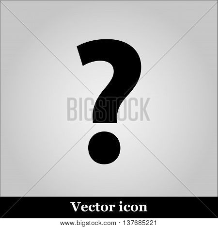 Question Icon Picture on grey background, vector illustration