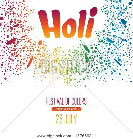 Holi festival poster background. Eps8 vector illustration