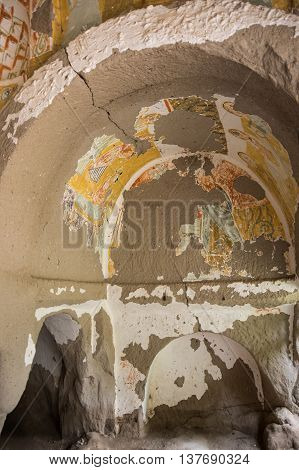 Church from the Byzantine period built by the Cappadocian Greeks in Ihlara valley Turkey