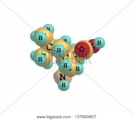Pregabalin - INN - is an anticonvulsant drug used for neuropathic pain and as an adjunct therapy for partial seizures with or without secondary generalization in adults. 3d illustration