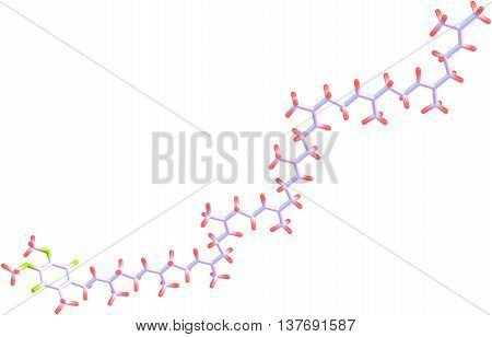 Ubiquinone - coenzyme Q - is a naturally occurring coenzyme found in the mitochondria of the heart liver kidneys and pancreas. 3d illustration