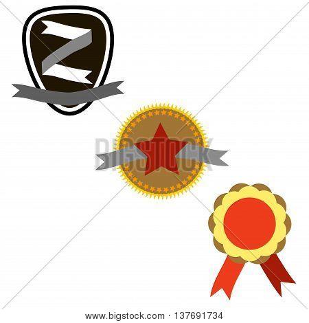 billet emblems for design layouts. vector illustration.