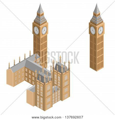 Big Ben - the clock tower and part of westminster palace, which is the Houses of Parliament. The most famous landmark in England.