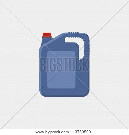Vector Illustration Of Canister With Engine Oil Isolated On White Background. Motor Oils Icon, Sign