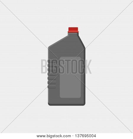 Vector Simple Illustration Canister With Engine Oil Isolated On White Background. Motor Oils Icon, S