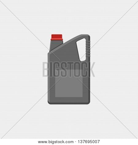 Motor Oils Icon In Flat Style Isolated On White Background. Vector Simple Illustration Canister With