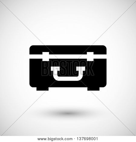 Hard case icon isolated on grey. Vector illustration