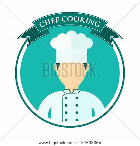 Chef Cooking Logo Blue