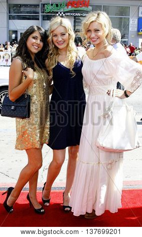 Daniella Monet, Al and Aly Michalka at the World premiere of 'Nancy Drew' held at the Grauman's Chinese Theater in Hollywood, USA on June 9, 2007.