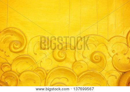Art stucco with a resolution of the Golden Temple,