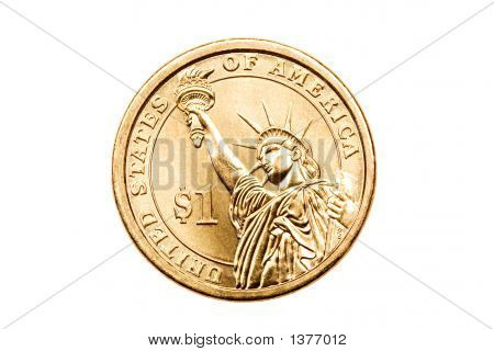 Dollar Coin Isolated