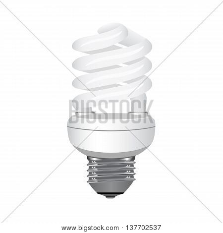 Energy saving light bulb on a white background. Vector illustration.