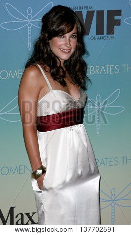 Lindsay Sloane at the Women In Film Presents The 2007 Crystal and Lucy Awards held at the Beverly Hilton Hotel in Beverly Hills, USA on June 14, 2007.
