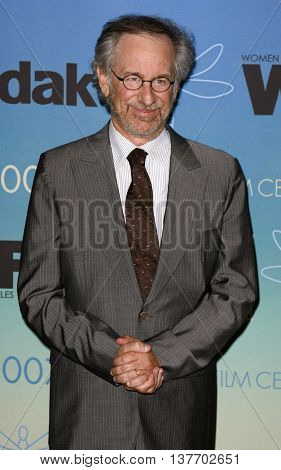 Steven Spielberg at the Women In Film Presents The 2007 Crystal and Lucy Awards held at the Beverly Hilton Hotel in Beverly Hills, USA on June 14, 2007.