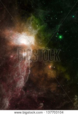 Star field in space a nebulae and a gas congestion. Elements of this image furnished by NASA.
