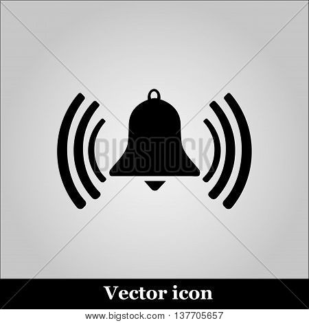 Ringing bell on grey background, vector illustration