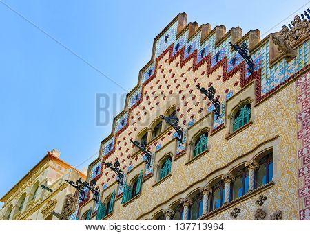 Casa Amatller In Block Of Discord In Eixample Of Barcelona