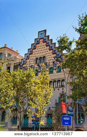 Casa Amatller In Block Of Discord In Eixample In Barcelona