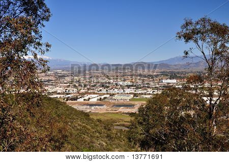 Hillside view of Temecula