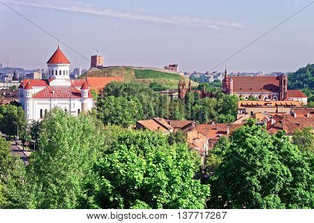 Upper Castle And Cathedral Of The Theotokos In Vilnius